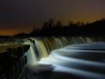Тосненский водопад ночью