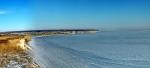 Волгоградское водохранилище зимой
