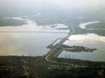 Волгоградское водохранилище с высоты