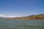 затопленный берег озером Энрикильо