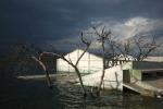 затопленная деревня озером Энрикильо