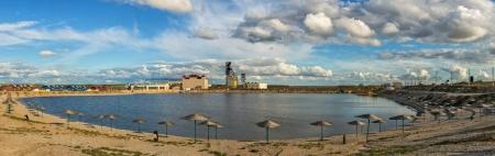 соленое озеро в Соль-Илецке (панорама)
