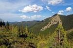 горы Горганы в Карпатах, Украина