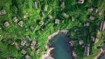 рыбацкая деревня Houtouwan с высоты