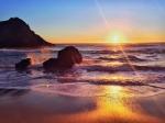 закат на Радужном пляже