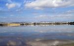 Ларнакское соляное озеро в январе
