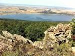 вид на озеро Талкас с хребта Ирендык