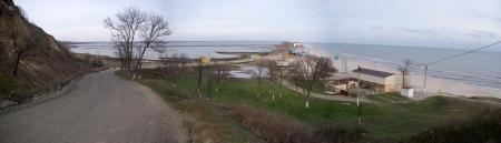Будакская коса, Затока (панорама)