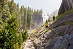 водопад Вернал, вид с Mist Trail