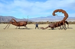 Парк доисторических скульптур в пустыне Анза Боррего, Калифорния