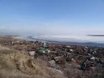 вид с горы Увек на Волгу в начале весны