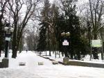 парк Шевченко в Ровно зимой