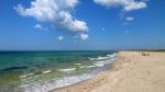 пляж на косе Беляус, Крым