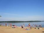 пляж на Сенежском озере