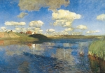 картина Левитана Озеро