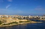 вид на гавань из Верхних садов Баракка, Мальта