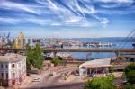 вид с Тещиного моста на Одесский залив