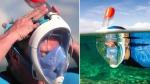 полнолицевая подводная маска