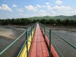 длинный мост в Розгирче через реку Стрый