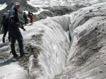 трещины Алибекского ледника
