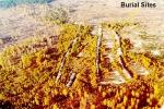 радиационный Рыжий лес, карта могильников