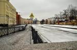 река Пряжка зимой