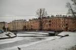 река Пряжка зимой, Санкт-Петербург