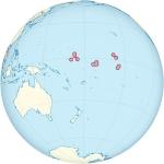 Кирибати на карте