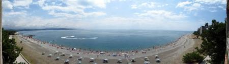 Пицундская бухта (панорама)