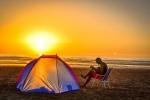 на отдыхе с палаткой