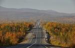 Трасса М18, осень, Полярный Круг