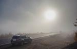 Трасса М18, туман после Кольского полуострова