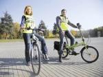 светоотражающий жилет на велосипедистах